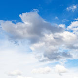 Grey cloud in cloudy blue sky Stock Images