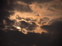 Grey Clouds Cover The Sun. The Grey Clouds Cover The Sun royalty free stock photography