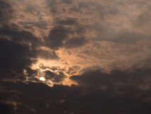 Grey Clouds Cover The Sun. The Grey Clouds Cover The Sun royalty free stock photos