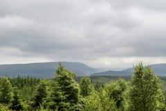Grey Clouds Over Landscape imagen de archivo