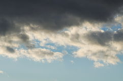 Grey Clouds on the Sky Royalty Free Stock Images