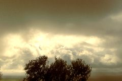 Grey Clouds tempestoso Fotografia Stock Libera da Diritti