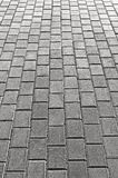 Grey Cobblestone Pavement Texture Background, Large Detailed Vertical Gray Stone Block Paving Perspective, Rough Textured Cobble Royalty Free Stock Photography
