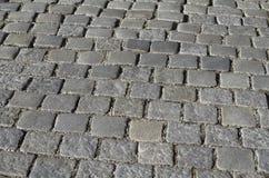 Grey Cobblestones Texture Stock Image
