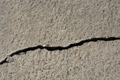 Grey color cracked concrete wall Royalty Free Stock Image
