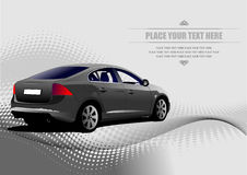 Grey colored car sedan Stock Images