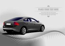Grey colored car sedan Stock Images