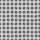 Grey colored hand drawn circle dots Stock Photography