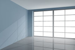Grey colored room Royalty Free Stock Photography