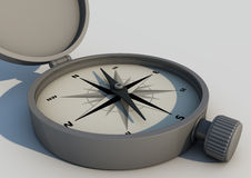 Grey compass Royalty Free Stock Images