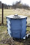 Grey composting container royalty free stock photo