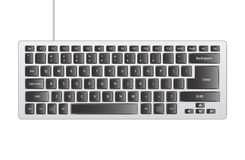 grey computer keyboard. Computer keyboard with black buttons Royalty Free Stock Photos