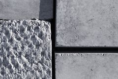 Grey concrete blocks surface Royalty Free Stock Photos