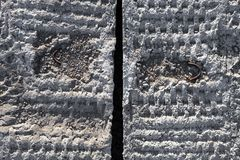 Grey concrete blocks surface Royalty Free Stock Photo