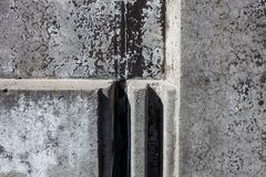 Grey concrete blocks surface Royalty Free Stock Images