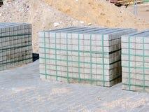 Grey concrete bricks Royalty Free Stock Photography