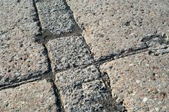 Grey concrete pavement surface. With various texture Stock Photography