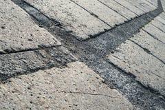 Grey concrete pavement surface. With various texture Stock Photos