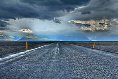 Grey Concrete Road Under Grey Sky Royalty Free Stock Photo