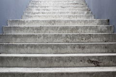 Grey concrete staircase Royalty Free Stock Photo