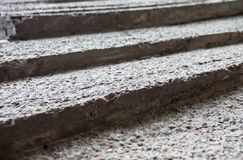 Grey concrete stairs Stock Images