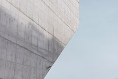 Grey Concrete Wall with CCTV Royalty Free Stock Photography