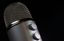 Grey Condencer Microphone Royalty Free Stock Photo
