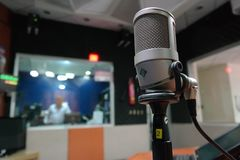 Grey Condenser Microphone Royalty Free Stock Image