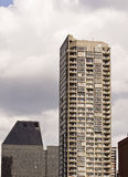 Grey Condo Tower with Balconies Royalty Free Stock Photography