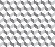 Grey contour abstract geometrical cubes seamless pattern background. Available in high-resolution in several sizes & editable eps file to fit the needs of your stock illustration