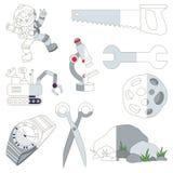 Grey Coor Objects, el juego grande del niño que se coloreará por ejemplo medio libre illustration