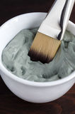 Grey cosmetic clay Royalty Free Stock Images