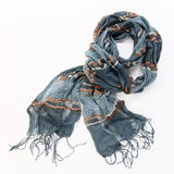 Grey cotton scarf Royalty Free Stock Photography