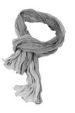Grey cotton scarf Royalty Free Stock Images