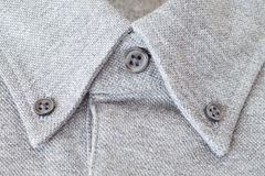 Grey cotton shirt collar Royalty Free Stock Photography