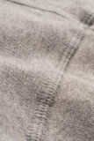 Grey Cotton Textile Seam Swatch Arkivbild