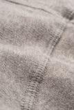 Grey Cotton Textile Seam Swatch Stock Photography