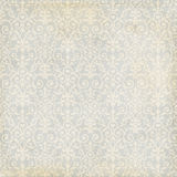 Grey and cream damask vintage grungy background Royalty Free Stock Photos