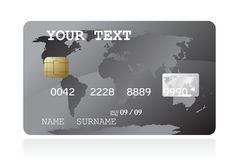 Grey credit card illustration. One grey credit card illustration Stock Image