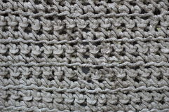 Grey crochet texture Stock Images