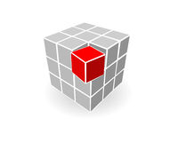 Grey cube. Many grey cubes and one red cube Royalty Free Stock Photography