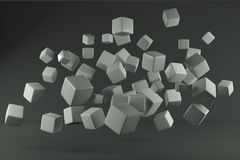 Grey cube Royalty Free Stock Images