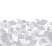 Grey cube background Stock Photos