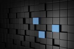 Grey Cube Blocks Wall Background scuro 3d rendono illustrazione di stock