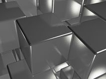 Grey cubes. As abstract background, 3D illustration Stock Image