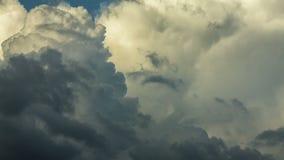 Grey Cumulus cloudscape stock video footage