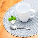 Grey Cup em um guardanapo Imagens de Stock