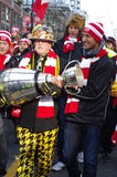 2014 Grey Cup Fan March Royalty Free Stock Photo