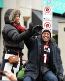 Grey Cup MVP Henry Burris in parade Royalty Free Stock Photos