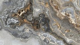 Grey curly marble. Beautiful grey curly marble with golden veins. Abstract texture and background. 2D illustration Royalty Free Stock Image